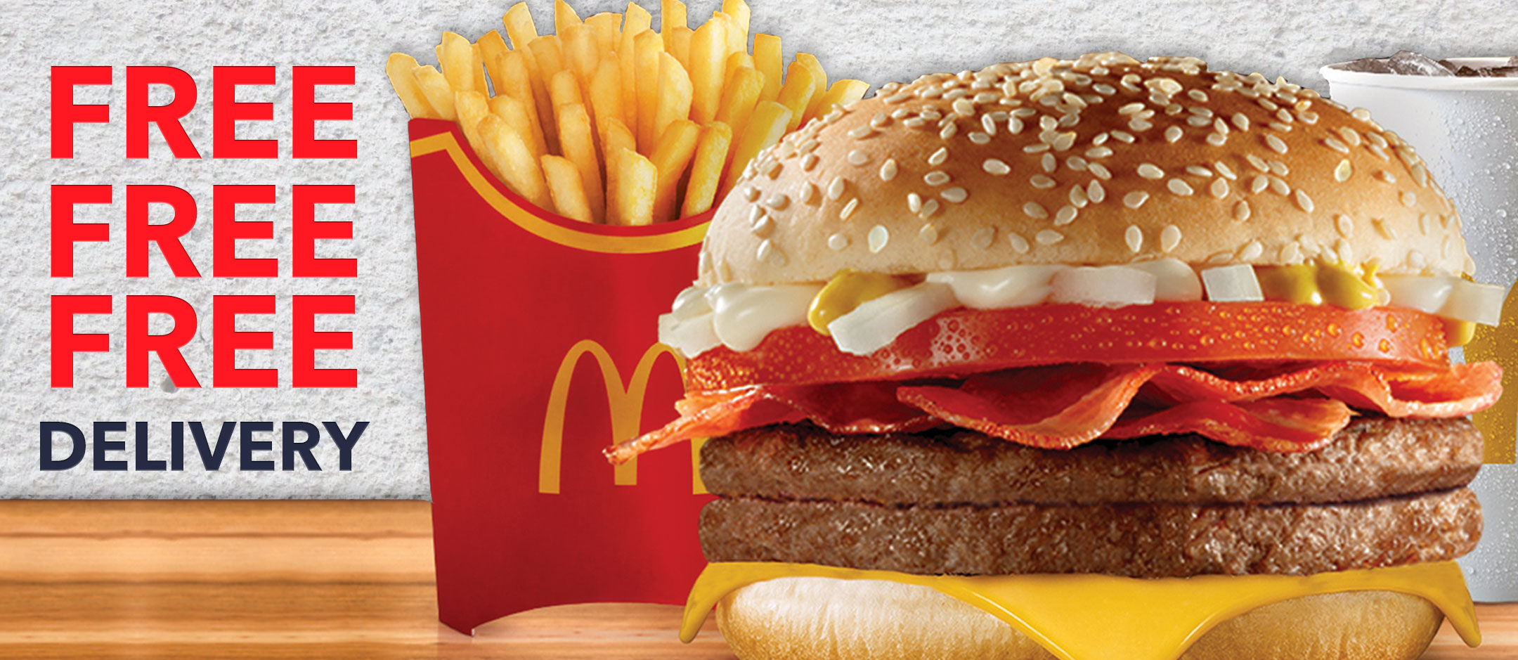 Free Delivery Mc Donald's