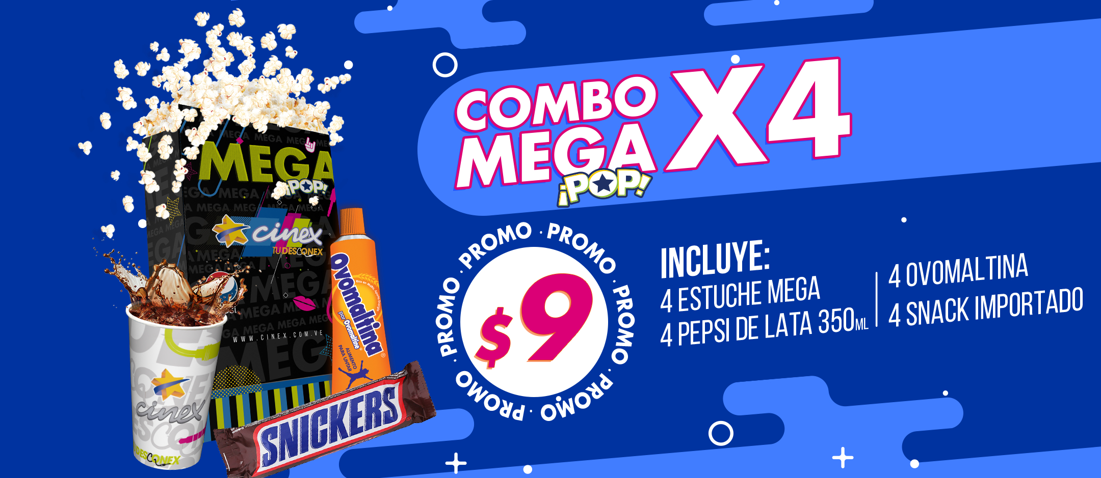 Cinex combo mega pop